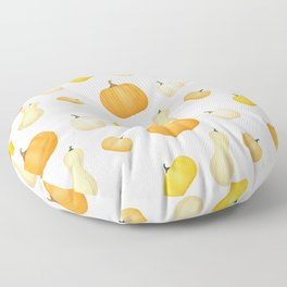 Pumpkins & Squash Pattern Floor Pillow