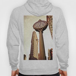 Flatiron Building and Fifth Avenue Clock - New York City Hoody