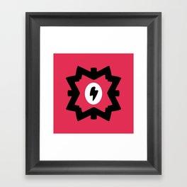 Lightning Bolt Design Framed Art Print