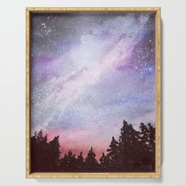 Reach for the Stars Original Watercolor Painting Serving Tray