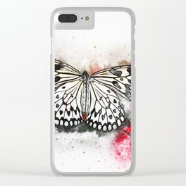 Butterfly design with splash effect Clear iPhone Case