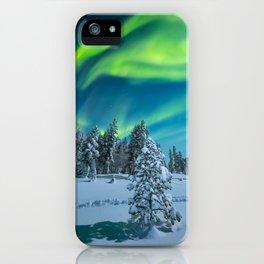 Fantastisk nordlysnatt iPhone Case