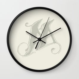 The Letter M (II) Wall Clock