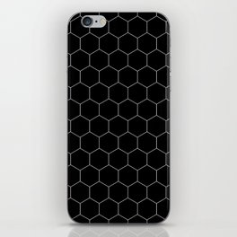 Simple Honeycomb Pattern- Black & White- Mix & Match with Simplicity of Life iPhone Skin