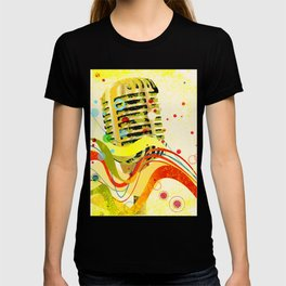 Jazz Microphone Poster T-shirt