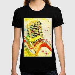Jazz Microphone Poster T-shirt