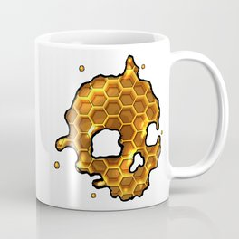 Honey comb splat skull Coffee Mug