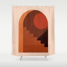Abstraction_SUN_HOME_MInimalism_001 Shower Curtain