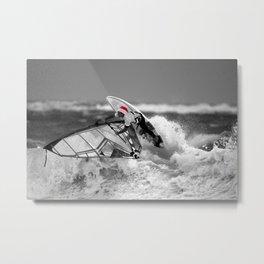 surf santa - wind surf Metal Print