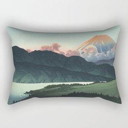 Hasui Kawase, Mount Fuji Seen From Lake Ashinoko - Vintage Japanese Woodblock Print Art Rectangular Pillow