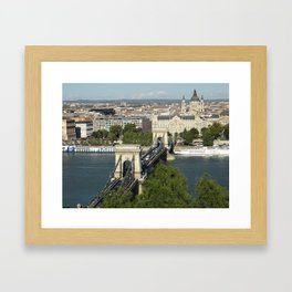 Budapest by Day Framed Art Print