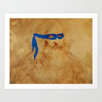 leonardo Art Prints featuring Leonardo by Misha Libertee