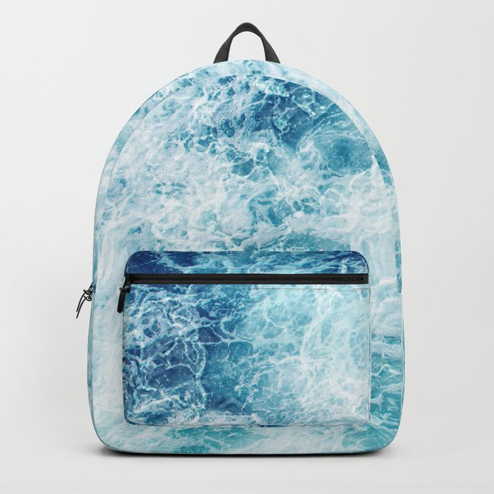Sea ocean storm waves Backpack