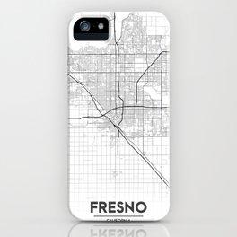 Minimal City Maps - Map Of Fresno, California, United States iPhone Case