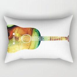 Acoustic Guitar - Colorful Abstract Musical Instrument Rectangular Pillow