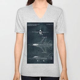 F-16 Fighting Falcon - 1974 Unisex V-Neck
