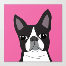Boston Terrier Lilly Canvas Print