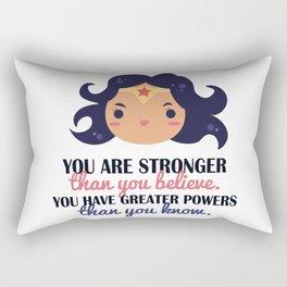 You are stronger Rectangular Pillow