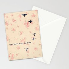 she flies Stationery Cards