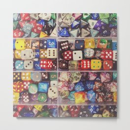 Colorful Dice Metal Print