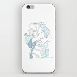 line drawing of a beautiful model iPhone Skin