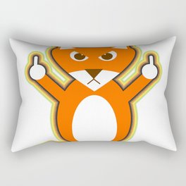 Angry fox is giving y Rectangular Pillow