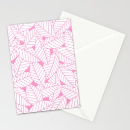 Leaves in Flamingo Stationery Cards