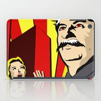 soviet iPad Cases featuring Stalin portrait red scare soviet union poster by Sofia Youshi