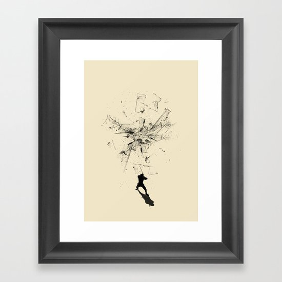 Ninja Moves Framed Art Print