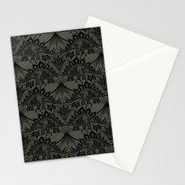 Stegosaurus Lace - Black / Grey Stationery Cards