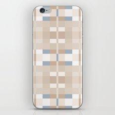 Beige and Blue Color Blocks Geometric Pattern iPhone & iPod Skin