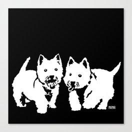 """West Highland Terrier """"The Westie"""" Man's Best Friend Canvas Print"""