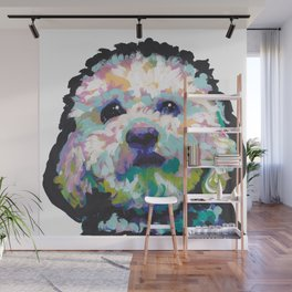 maltese poodle Maltipoo Dog Portrait Pop Art painting by Lea Wall Mural
