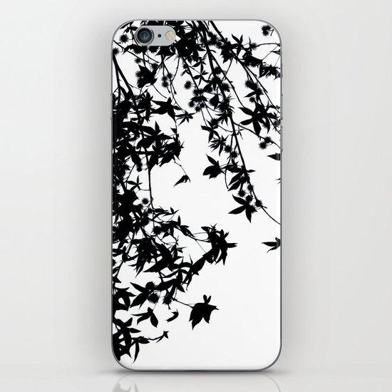 black on white iPhone & iPod Skin