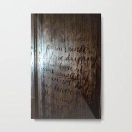 Writing stuck in time Metal Print