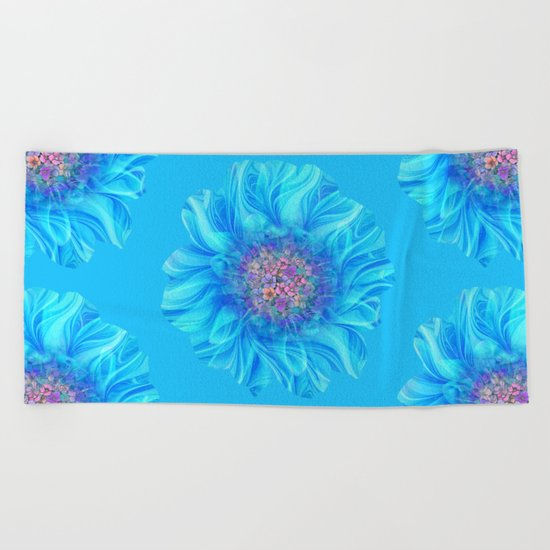 Fractal Flower 2 Beach Towel