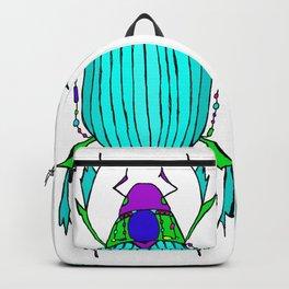 Egyptian Scarab Beetle Turquoise Backpack