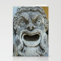 scream Stationery Cards featuring scream by death above