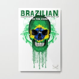 To The Core Collection: Brazil Metal Print