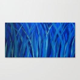 Grassy Grass Blue Canvas Print