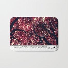 Cherry Blossom wishes Bath Mat