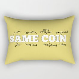 Same Coin - Yellow Rectangular Pillow