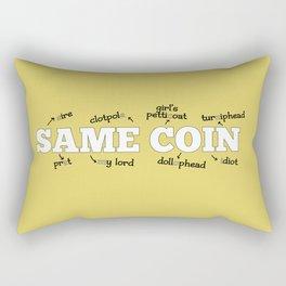 Same Coin - Yellow Rectangular Pillow