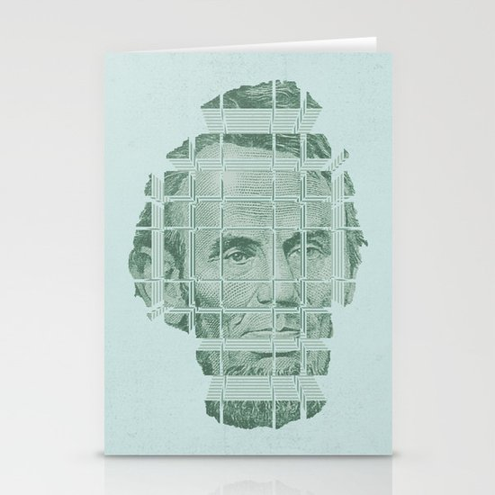 The Various Parts of Mr. Lincoln Exploding Towards the Viewer Stationery Cards