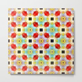 Embellecimiento Pattern Metal Print