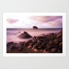 Black Rock, Widemouth Bay, Bude, Cornwall, England, UK Art Print