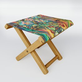 House in Bloom Folding Stool