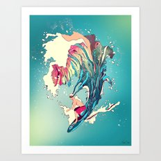 Blind Surfer Art Print