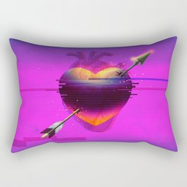Heart Glitch Rectangular Pillow