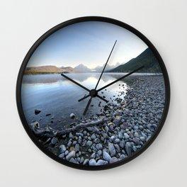 Rocky Beach Lake Wall Clock